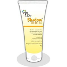 Fix Derma Shadow SPF 30+Gel_75 Gm Shadow SPF 30+ Gel is designed to protect sensitive skin and doubles as a moisturiser. This sunblock offers broad spectrum protection against the sun'. Safe on young delicate skin of children.s damaging rays
