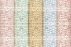 Brunschwig & Fils's famed Les Touches fabric is now available as a wallpaper!