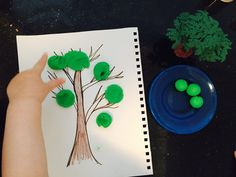 Making tree by smashing playdough balls, list of activities for toddlers, activities for 18-24 month old, activities for one year old, activities for 18 month old, activities for 19 month old, activities for 20 month old, activities for 21 month old, activities for 22 month old, activities for 23 month old, activities for 24 month old, activities for two year old, toddler games