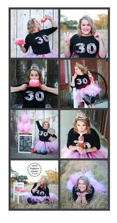 "30th birthday photo shoot ""Cake smash and booze"""