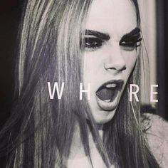 Uploaded by Megan. Find images and videos about black and white, model and cara delevingne on We Heart It - the app to get lost in what you love. Cara Delevingne, Soft Grunge Hair, Eyeliner, Modelos Fashion, Provocateur, Belleza Natural, Mannequins, Girl Crushes, My Idol