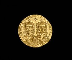 Byzantine Gold Solidus Coin OF Emperors LEO IV THE Khazar Constantine VI