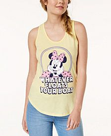 d69afb8a468 Mighty Fine Juniors  Minnie Mouse Graphic-Print Tank Top Cute Tank Tops