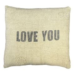 Sugarboo Designs Love You Linen Pillow ($150) ❤ liked on Polyvore
