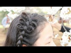 編み込みアレンジ リボンヘア Dutch Braid Arrangement with bows