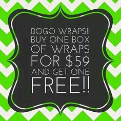 "THIS IS NOT A DRILL!!!  The first ✨10✨people to comment ""BOGO ME"" will be eligible for 4 FREE wraps!!!!   no distributors, please!"