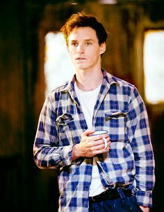 Eddie and a flannel shirt. This made my day. And a cup of coffee -- or is it tea?