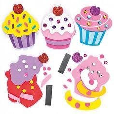 Cupcake Foam Magnet Kits