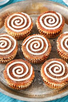 Mini Cinnamon Roll Cheesecakes! So easy and delicious!