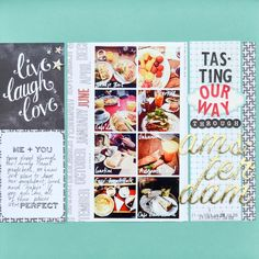 Tasting Our Way Through Amsterdam - great scrapbooking layout that combines food & travel memories Mini Scrapbook Albums, Wedding Scrapbook, Disney Scrapbook, Travel Scrapbook, My Scrapbook, Mini Albums, Scrapbook Photos, Daisy Patches, Diy And Crafts