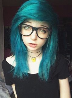 cool Pretty hair, I love the color. Also I LOVE her Pikachu necklace :)...
