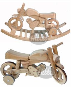 rocking toys and wooden rocking motorbikes for children, combi trainer bike for William what a great idea!!