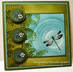 dragonfly pond card by Michelle Zindorf