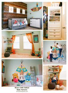 Photos from our Nursery Reveal / Maternity Photoshoot. We had a ton of fun building on this concept for our little boy. I had this idea stuck in my head and my husband did a phenomenal job bringing it to life! Aztec inspired, Brave Little Indian themed but clean and modern!
