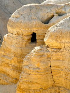 Qumran, site of the discovery of the Dead Sea Scrolls~