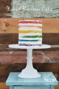 Naked rainbow cake tutorial