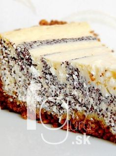 Svieži makovo-tvarohový koláč