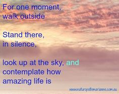 We all need moments of reflection .....