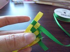 DIY Ribbon Lei or weaving