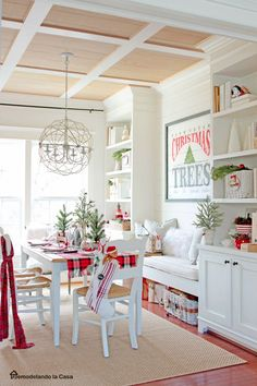 Classic red, white and green Christmas home tour!