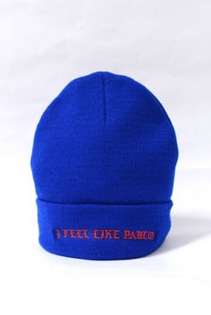 The Life Of Pablo I FEEL LIKE PABLO ニットキャップ Blue  8,800円(内税)