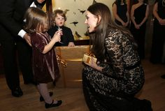 Kate Middleton Photos Photos - Catherine, Duchess of Cambridge talks with Jessica Geffen (L) and her brother Francis before a screening of David Attenborough's Natural History Museum Alive 3D at Natural History Museum on December 11, 2013 in London, England. - Kate Middleton and Prince William Go to the Museum