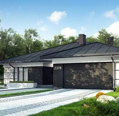 Z378 to wyjątkowy dom z kategorii projekty domów parterowych House Plans Mansion, Dream House Plans, House Floor Plans, Home Building Design, Home Design Plans, Building A House, Beautiful House Plans, Beautiful Homes, Single Storey House Plans