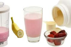 Strawberry banana meal replacement shake