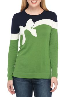 c910b0bef1e Crown   Ivy™ Long Sleeve Colorblock Sweater