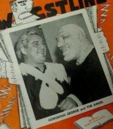 Maurice Tillet with Gorgeous George - http://www.collecting-celebrity-autographs.com/maurice-tillet.html