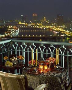 The Four Seasons, Nile in Cairo, Egypt......beautiful it looks just like this except you can hear car horns in the distance. It all lends to the charm of Cairo!