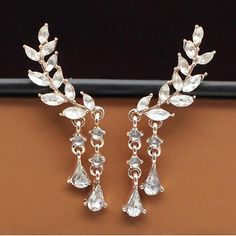 Women's Clip Earrings Luxury Costume Jewelry Imitation Pearl Rhinestone Imitation Diamond Alloy Jewelry For Party Daily Casual 2017 - €4.46