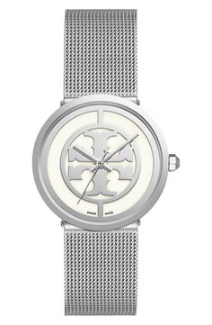 Swooning over this mesh strap watch by Tory Burch.