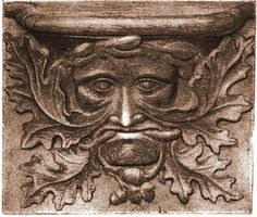 Green Man | Medieval misericord; abbey-church of Vendôme, France
