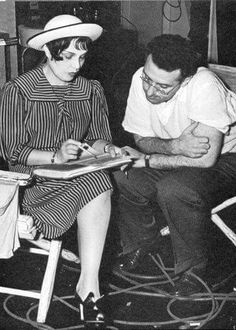 Anita Loos and George Cukor on the set of The Women, 1939