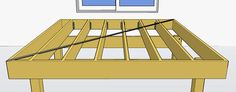 """Sway Bracing  All decks using horizontal decking should have a diagonal sway brace to prevent racking.  You may install a metal """"T"""" brace which is a long metal strip diagonally across the top of the joists or install a diagonal deck board across the bottom of the deck frame.  Decks using diagonal decking do not require sway bracing."""