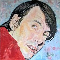 Fabrizio visto da Roberto Regini, olio su tela 70x70, 2018 Caricature, Portraits, Poet, Pictures, Head Shots, Caricatures, Portrait Photography, Caricature Drawing, Portrait Paintings