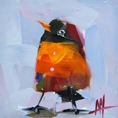 Robin no. 106 Painting | angela moulton's painting a day