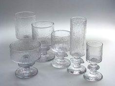 Senaattori1970-80, Timo Sarpaneva Punch Bowls, Candle Holders, Candles, Retro, Glass, Vintage, Design, Drinkware, Corning Glass