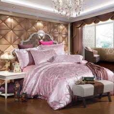 Comforter cover Jacquard bed set Slippery quilt cover duvet cover bedsheets