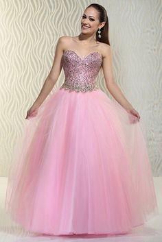 2015 A Line Ball Gown Sweetheart Beaded Bodice Prom Dresses Floor Length