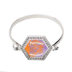 Psoriasis Awareness Hexagon Bracelet   #inspiredsilver #psoriasis #awarenss