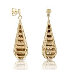 Toscano Webbed Drop Earrings 18K Gold Bridal Earrings, Drop Earrings, Diamond Studs, Italian Style, Women Accessories, Jewels, Collection, Jewellery, Life