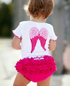"Cute!!! White ""So Blessed"" Angel Tee & Matching Bloomers!!"
