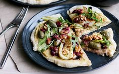 White Pizza With Fennel and Roasted Grapes [Vegan] - One Green PlanetOne Green Planet