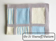 Knit baby blanket pattern / baby blanket by PetitMoutonFrancais