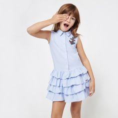 Kids Frocks, Frocks For Girls, Cute Girl Dresses, Little Girl Dresses, Toddler Dress, Baby Dress, Baby Girl Fashion, Kids Fashion, African Dresses For Kids