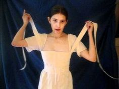 """""""Lazy"""" Lacing a Regency Era Corset. Now THIS is interesting! Never seen one like this."""
