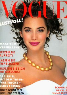 Vogue Deutsch, 1987.  Christy Turlington.
