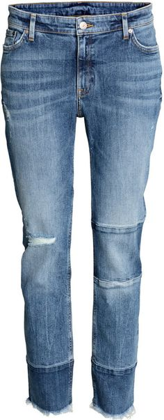 Patchwork and frayed hems are two of our favorite details on these jeans. Plus, they're under $50!